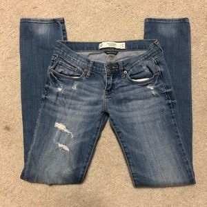 Abercrombie & Fitch Distressed Rip Stretch Jeans